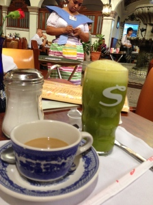 Un café y un jugo....perfección